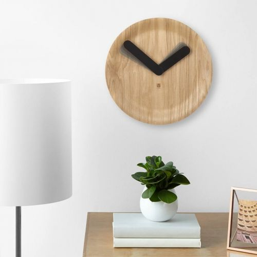 UMBRA TIMEFLOW WALL  CLOCK 12 NATURAL