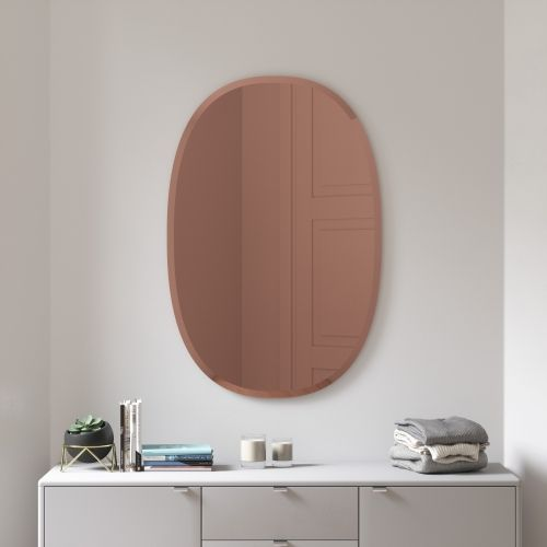 UMBRA HUB BEVY OVAL 24X36 COPPER