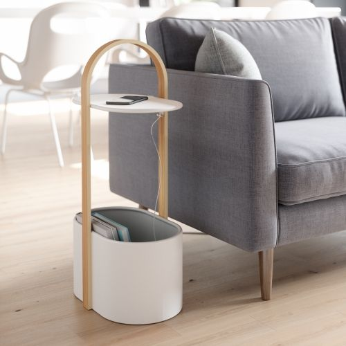 UMBRA HUB STORAGE TABLE WHT/NAT