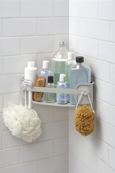 UMBRA FLEX GEL-LOCK CORNER BIN GREY