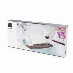 UMBRA AQUALA BATHTUB CADDY WALNUT