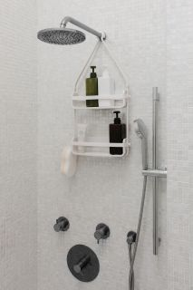 FLEX SHOWER CADDY WHITE