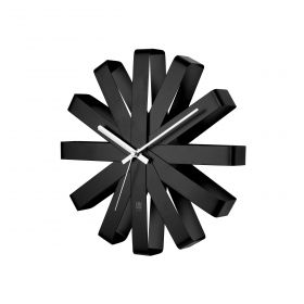 UMBRA RIBBON Clock Steel Black
