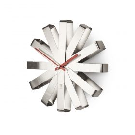 UMBRA RIBBON Clock Steel