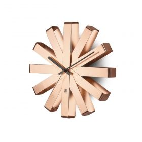 UMBRA RIBBON Clock Steel COPPER