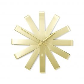 UMBRA RIBBON Clock Steel Brass