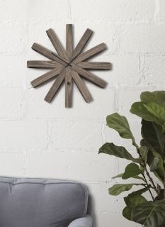 UMBRA RIBBONWOOD WALL CLOCK AGED WALNUT