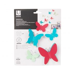 MARIPOSA WALL DECOR (9) ASST