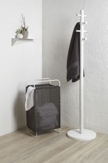 UMBRA CINCH LAUNDRY HAMPER GRY/WHT