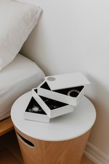 SPINDLE STORAGE BOX WHITE