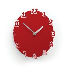 UMBRA Numero Wall Clock Red