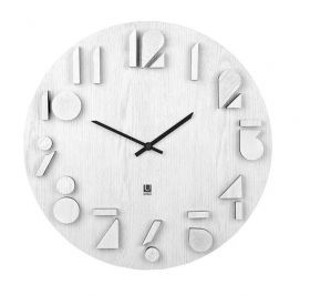 UMBRA SHADOW  WALL CLOCK WHITE