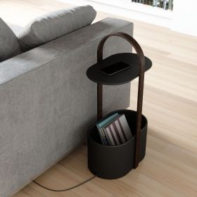 UMBRA HUB STORAGE TABLE BLK/WAL