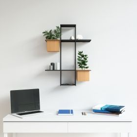 UMBRA CUBIST MULTI SHELF SAND/BLK