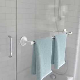 UMBRA FLEX SURE-LOCK TOWEL BAR CHROME