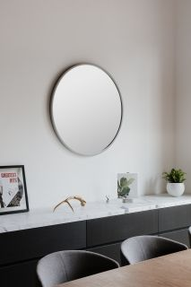UMBRA HUB WALL MIRROR 37 GREY