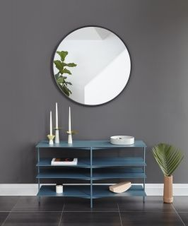 UMBRA HUB WALL MIRROR 37 BLACK