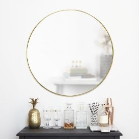 UMBRA HUBBA MIRROR 34 BRASS