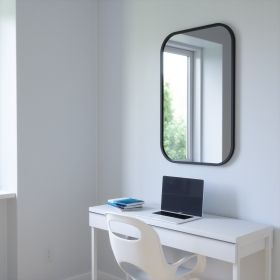 UMBRA HUB MIRROR RECTANGLE 24X36 BLACK