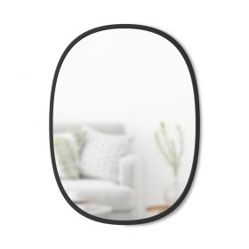 UMBRA HUB MIRROR OVAL 18X24 BLACK