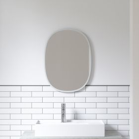 UMBRA HUB MIRROR OVAL 18X24 GREY