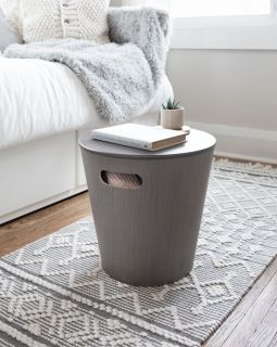 UMBRA WOODROW STORAGE STOOL GREY