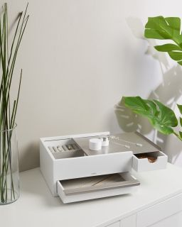 UMBRA STOWIT STORAGE BOX WHT/NKL