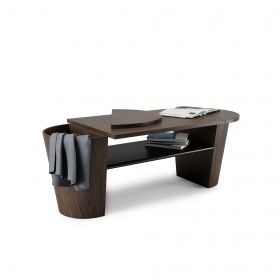 UMBRA WOODROW COFFEE TABLE BLK/WAL