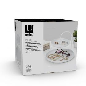 UMBRA POISE TWO TIERED TRAY WHITE